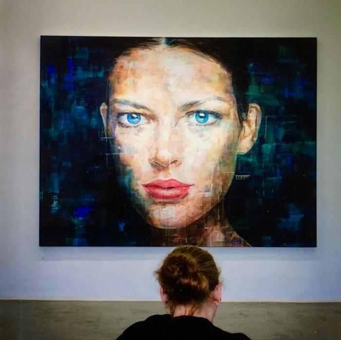 Blaue Augen - by Frank Joss